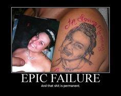 tattoo gone bad. funny.