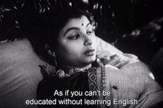 "<b>""Woman and the earth have a lot to tolerate,"" - Meena Kumari, <i>Kaajal</i> (1965).</b>"