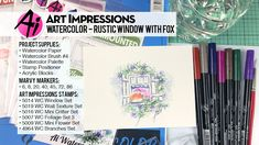 Art Impressions Blog: NEW VIDEO - Rustic Window and Fox Watercolor