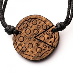 Pizza - 3in1_diy_schmuck Holzschmuck aus Naturholz / Anhänger Cnc, Pocket Watch, Pizza, Bracelets, Leather, Accessories, Jewelry, Wood And Resin Jewelry, Wooden Jewelry