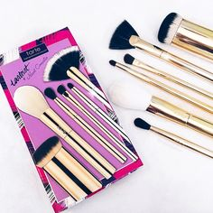 My beautiful brushes with Tarte Cosmetics!!! One of my most favorite things I've ever done!
