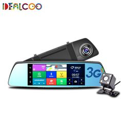 "Dealcoo 7"" 3G Mirror Rearview Car DVR Camera DVRs Android 5.0 With GPS Navigation Automoblie Video Recorder Dash Cam Auto DVRs"