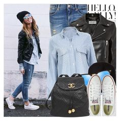 """""""1772. Street Style"""" by chocolatepumma ❤ liked on Polyvore featuring Hello Kitty, Oris, Maison Scotch, Yves Saint Laurent, Alexander Wang, Ray-Ban, Chanel, Converse, StreetStyle and converse"""