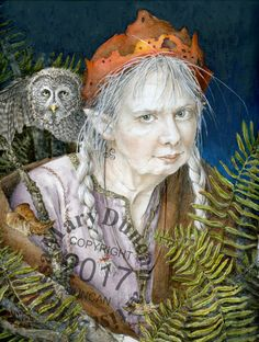 "Watercolour, ""The Old Mother In The Wood"" by Melissa Mary Duncan"