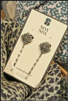 Noa Noa Angel Hair Slides 1-3508-1 in Crystal £18