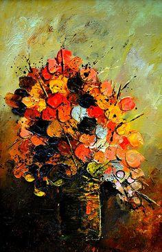Still Life by Pol Ledent; Oil on Canvas
