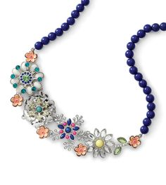 Our Full Bloom necklace flaunts a bouquet of blooming flowers.
