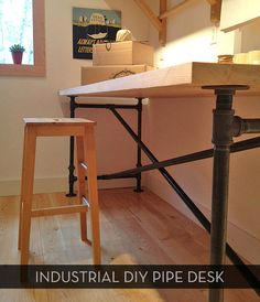 Awesome Diy Pipe Table -- Plus Free Downloadable Plans