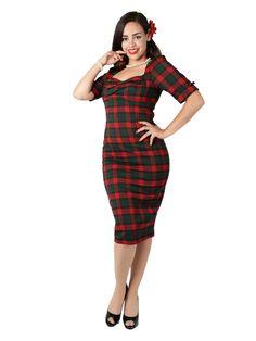 Rizzo Noëlle Check Pencil Dress 0