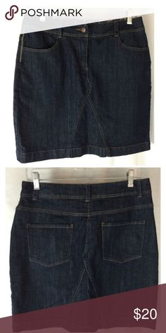 💜Boden dark wash denim jean skirt Size US 4, UK 8. Four pocket detailing. Cotton, spandex. EUC  💟Fast 1-2 day shipping 💟Reasonable offers accepted 💟Purchase 3 or more items & get a special bundle rate!  💟Smoke-free home Boden Skirts