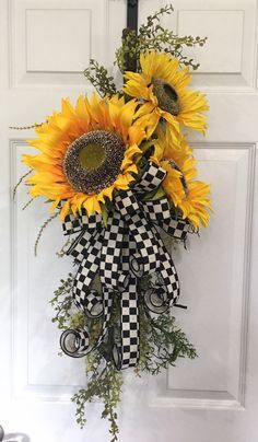 Excited to share this item from my shop: Sunflower Swag Fall Sunflower Sw Christmas Door Wreaths, Christmas Swags, Fall Wreaths, Mesh Wreaths, Christmas Decor, Fall Swags, Halloween Wreaths, Burlap Christmas, Primitive Christmas