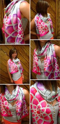 Textile Love: SIlk Dye Painting III: Dahlia Days of Summer