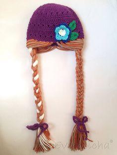 Items similar to Icey Princess Rapunzel Hat on Etsy Crochet For Kids, Diy Crochet, Crochet Hats, Peacock Crochet, Princess Hat, Princess Rapunzel, Princess Anna, Frozen Crochet, Baby Doll Set