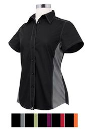 Women's Contrast Chef Shirt from Best Buy Uniforms. To see more women's chef uniforms click here http://www.bestbuyuniforms.com/chef-chef-uniforms-for-women/651-womens-contrast-chef-shirt.html