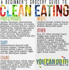 Eating Clean Food List @ http://www.motivationiscalling.com or http://www.facebook.com/motivationiscalling