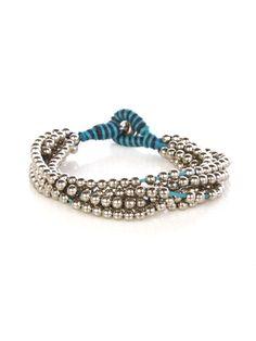 Metal Beads Cord Bracelet - Jewelry - Accessories