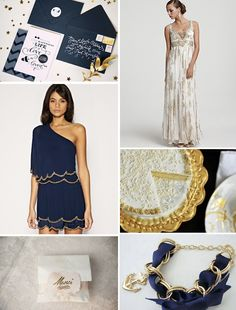 navy blue neutral gold wedding - Bing Images love the colors! Navy Blue And Gold Wedding, Gold Wedding Theme, Navy Gold, Pink And Gold, Wedding Colors, Dream Wedding, Fall Wedding Bridesmaids, Wedding Bridesmaid Dresses, Gold Color Scheme