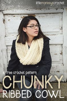 Free Pattern: Chunky Ribbed Crochet Cowl, Twisted Crochet Cowl (Free Crochet Pattern)