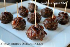 Sunflower Supper Club: Cranberry Meatballs