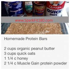 Homemade Protein Bars - Made with AdvoCare Muscle Gain!  Www.advocare.com/130634430