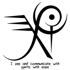 """I see and communicate with spirits with easy"" sigil  requested by anonymous"