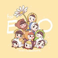 Find images and videos about kpop, exo and fanart on We Heart It - the app to get lost in what you love. Kpop Exo, Chanyeol Cute, Baekhyun, Kpop Drawings, Cute Drawings, Chibi Exo, Exo Cartoon, Exo Anime, Exo Fan Art