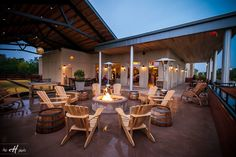 we love to enjoy the outdoor firepit at pinstripes when the sun goes