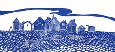 Buy Fishing Huts on Faro II, Linocut by Alison Deegan on Artfinder. Discover thousands of other original paintings, prints, sculptures and photography from independent artists.