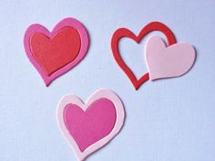 50 double Heart Die cuts for Valentines cards/toppers cardmaking scrapbooking craft projects on Etsy, £2.25