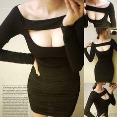 Reizvolle dünne Trägerloses Kleid