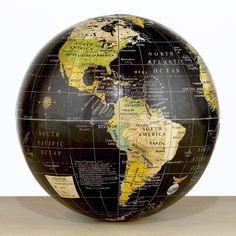 Decorative black globe by Cost Plus World Market Decorating Tips, Interior Decorating, Interior Design, World Globes, Map Globe, Shopping World, We Are The World, World Market, Accent Pieces