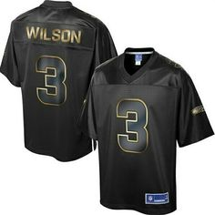 Russell Wilson Seattle Seahawks Pro Line Collection Jersey Black Gold
