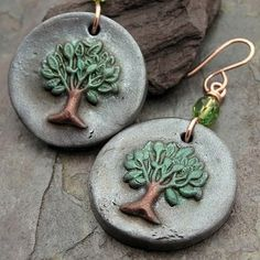 Tree Token Earrings