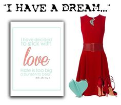 """""""In Honor of Dr. Martin Luther King,  Jr.  .....I Share His Dream"""" by conch-lady ❤ liked on Polyvore featuring Dolce&Gabbana, Christopher Kane, Aquazzura, Forever 21 and Bling Jewelry"""
