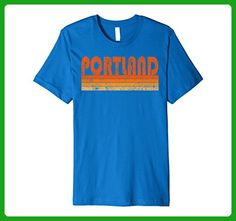 Mens Vintage Retro Portland OR Premium T Shirt Medium Royal Blue - Retro shirts (*Amazon Partner-Link)