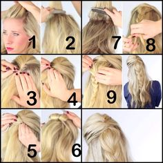 How to: A simple braid by @twistmepretty !!! She's the best! Love her tutorials!
