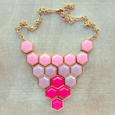 Pink Honeycomb Necklace from preebrulee.com