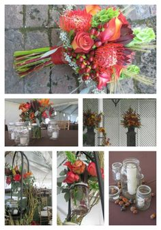 fall tones with rustic theme