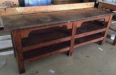 Original Werkbank Werktisch Loft Industrie Design 205 cm lang tolle Patina