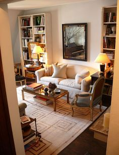 Designer Garrow Kedigian's Upper East Side apartment. Nice texture brought in with rug. Parisian feel.