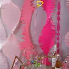 Easy DIY Party Streamer Add a little something special to your next baby shower, birthday, or photo booth with these giant crepe paper streamers. The color possibilities are endless! #diytissuepaperstreamers #partybackdrop #diypartydecor #bhg<br> The fringe is so fun! Paper Party Decorations, Hawaiian Party Decorations, Diy Birthday Decorations, Bridal Shower Decorations, Wedding Decoration, Party Decoration Ideas, Mermaid Decorations, Homemade Party Decorations, Diy Party Crafts