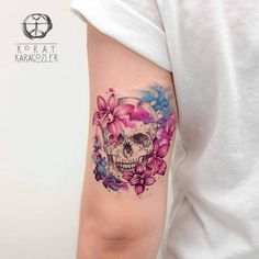 Amazing-Watercolor-Skull-Tattoos-by-Koray-Karagözler.jpg (700×700)