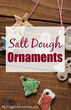 Simple salt dough Christmas ornaments-- so fun for kids! A perfect keepsake craft.