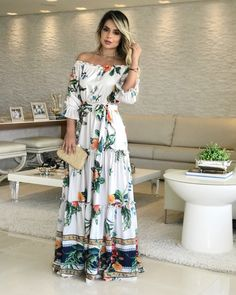 Style Hijab Simple Fashion 37 Ideas For 2019 Modest Outfits, Casual Dresses, Fashion Dresses, Girls Dresses, Style Hijab Simple, Long Summer Dresses, Floral Print Maxi Dress, Dream Dress, The Dress