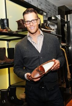 Tom Brady at a promotional event for Ugg shoes