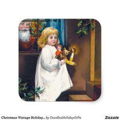 Christmas Vintage Holiday Sticker