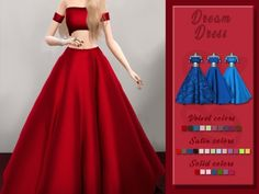 The Sims 4 Bluerose-sims Dream Dress