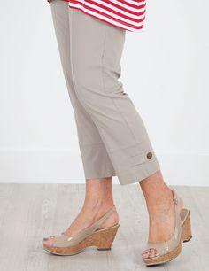 Remo Natural Crop Stretch Trouser 23