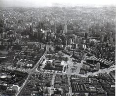 Vista aérea do Parque Dom Pedro - 1954