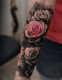 Rose tattoo on arm #rose #tattoo #arms